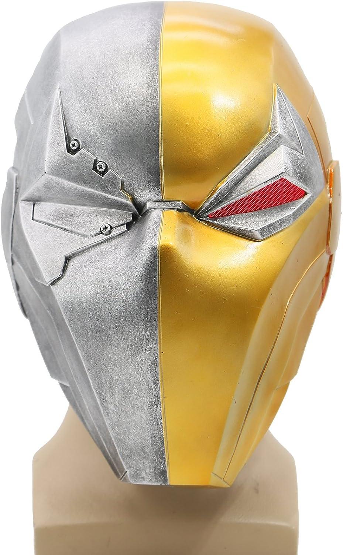 XCOSER Updated Deathstroke Helmet Full Head Mask With LED Light for Halloween