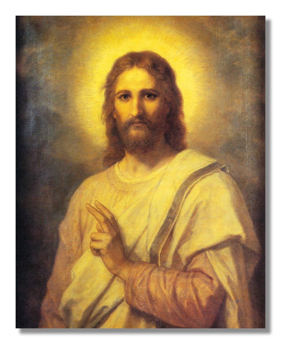 Amazon.com: Jesus Christ Radiating Light Religious Wall Picture ...
