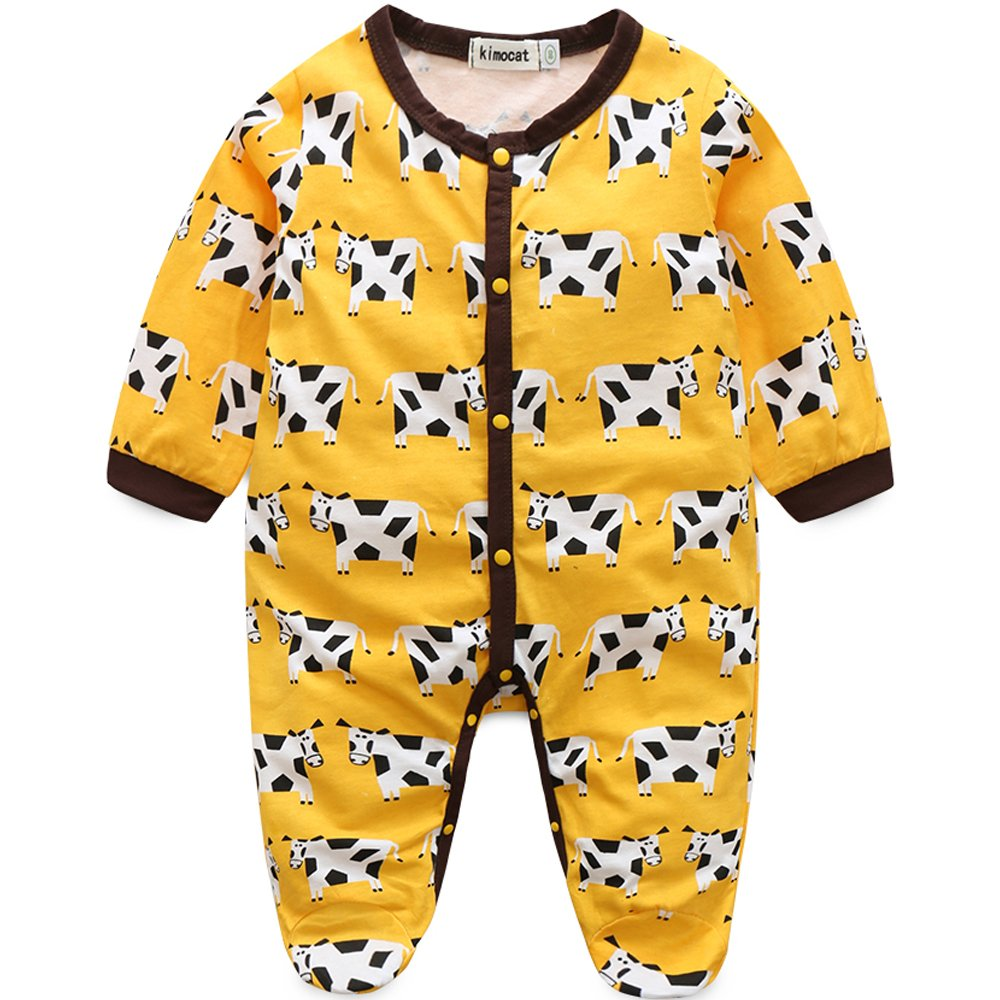 2018セール Kimocat Kimocat SLEEPWEAR 73 ベビーガールズ 73 Yellow Cow Yellow B074W5T6ZB, denpcy:ad720acc --- a0267596.xsph.ru