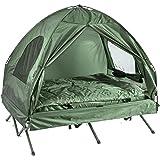 SoBuy Feldbett 4in1-Zelt mit Campingliege Schlafsack Luftmatratze und Zubehör 2 Personen OGS32-L-GR