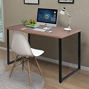 Simple Design Computer Desk Multifunctional Studying Writing Table White