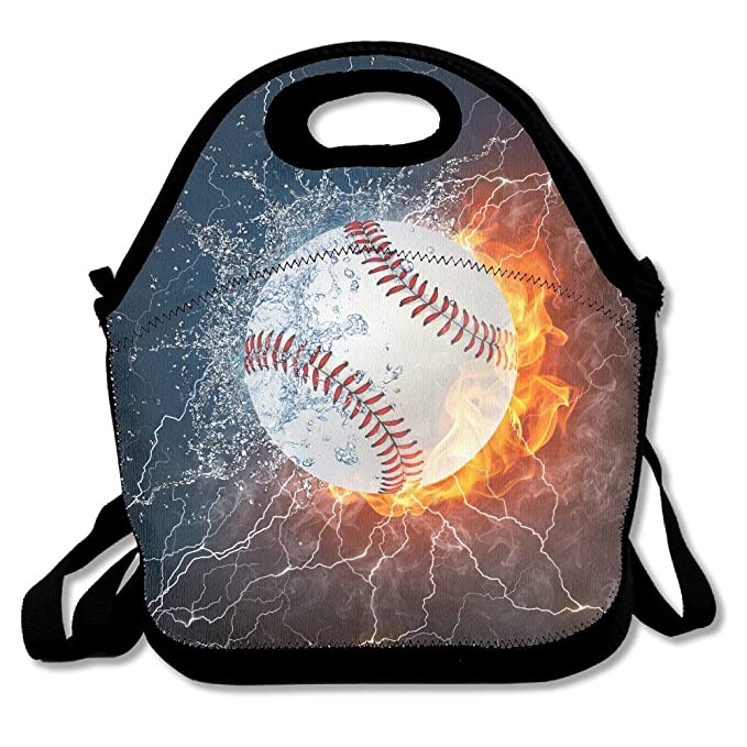 Neoprene Lunch Tote - Baseball Wallpaper Waterproof Reusable Lunch Bags For Men  Women Adults Kids Toddler Nurses With Adjustable a9db18c279cc6
