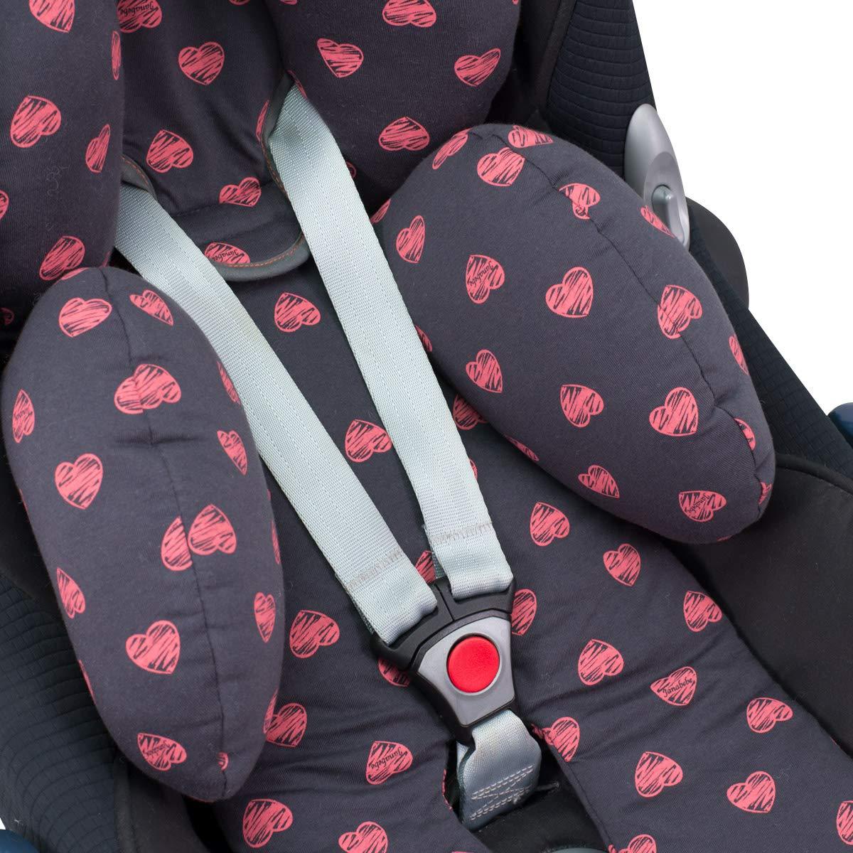 Reducer Cushion Infant Head /& Baby Body Support Antiallergic Janabebe Stone Grey
