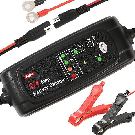 Amazon.com: Cargador de batería de 4 Amp, cargador de goteo ...