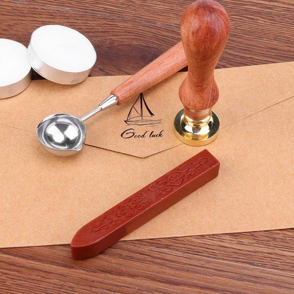 rot Tioeqioan Antike Siegellack Stick Einladungen alte Siegel Briefmarken Bar Docht