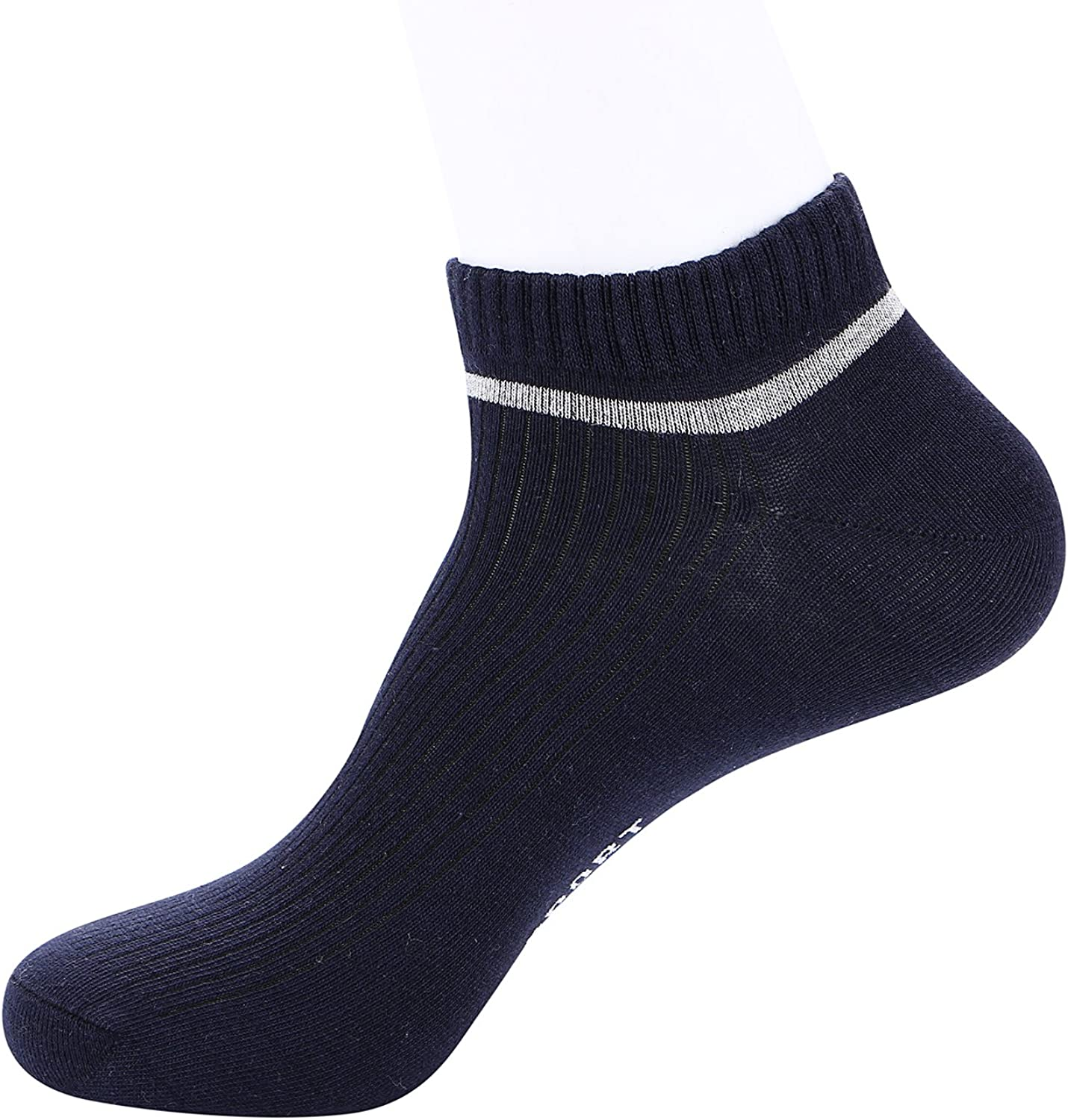 Elitimmy Mens Cotton Socks for Running,Workout and Casual