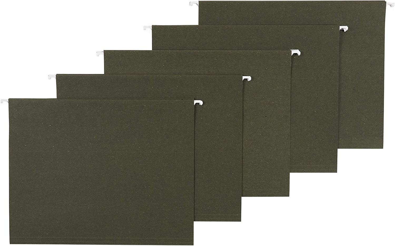AmazonBasics Recycled Hanging Folders, Letter Size, Standard Green, 1/3 tabs, 25-pack