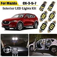11 Piece LED Interior Light Kit for Mazda CX-3 CX3 CX-5 CX5 CX-7 CX7 2006-2016 2017 2018 2019 2020 2021 Interior LED…