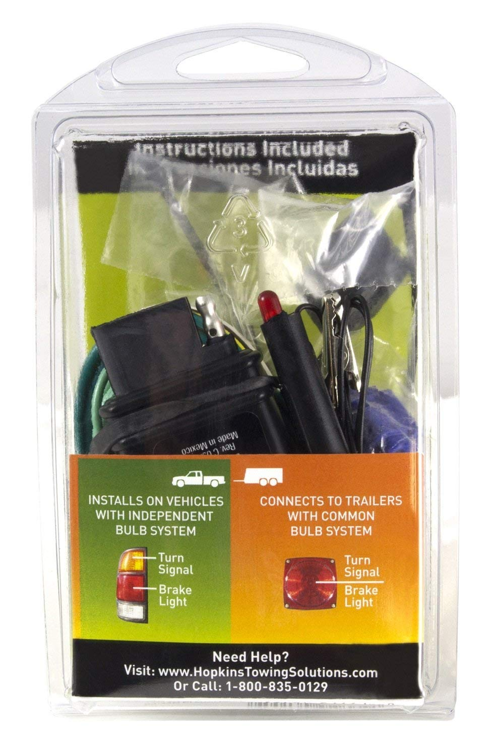 Hopkins 46155 Taillight Converter Universal Kit Automotive Towing Wiring Harness Troubleshooting