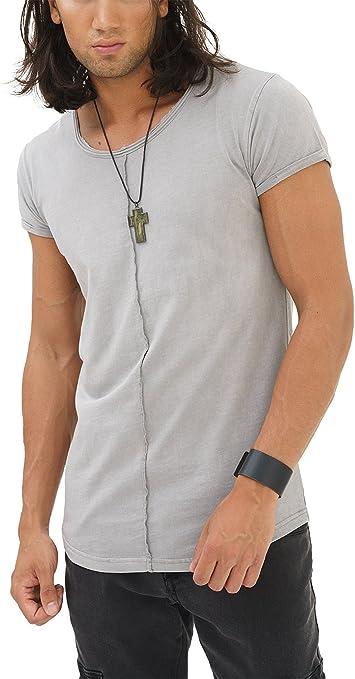 TALLA XXL. trueprodigy Casual Hombre Marca Camiseta Basico Ropa Retro Vintage Rock Vestir Moda Cuello Redondo Manga Corta Slim Fit Designer Fashion T-Shirt