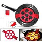 2 nd Generation Nonstick Silikon Ei Ring Pfannkuchen Form,Fantastic Fast&Einfache Möglichkeit Perfekte Pancakes