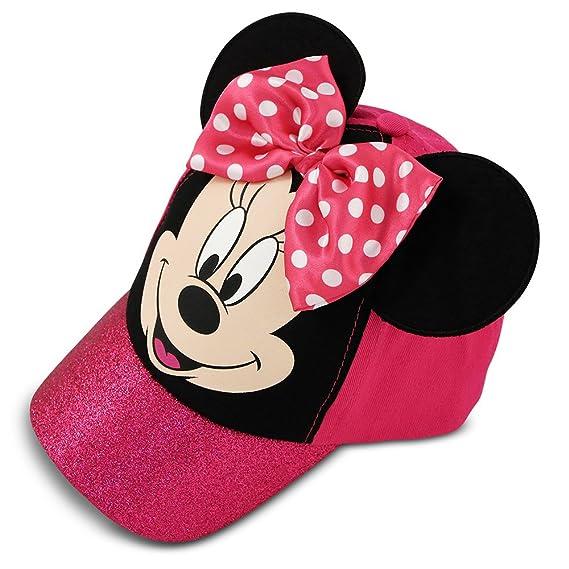 Disney Little Girls Minnie Mouse gorra de béisbol de algodón con lazo de  lunares rosa y 7c5f1c05b92