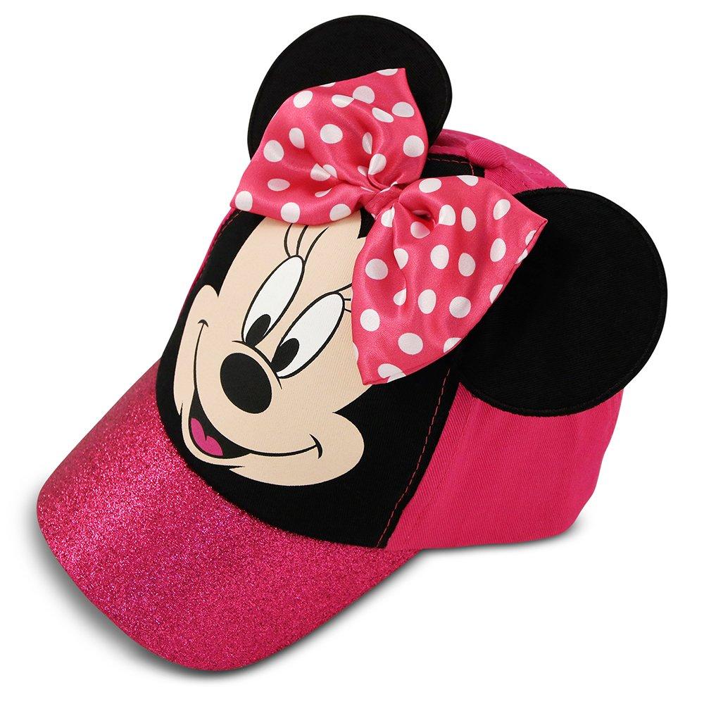 Disney Little Girls Minnie Mouse Bowtique Cotton Baseball Cap, Pink, Age 4-7