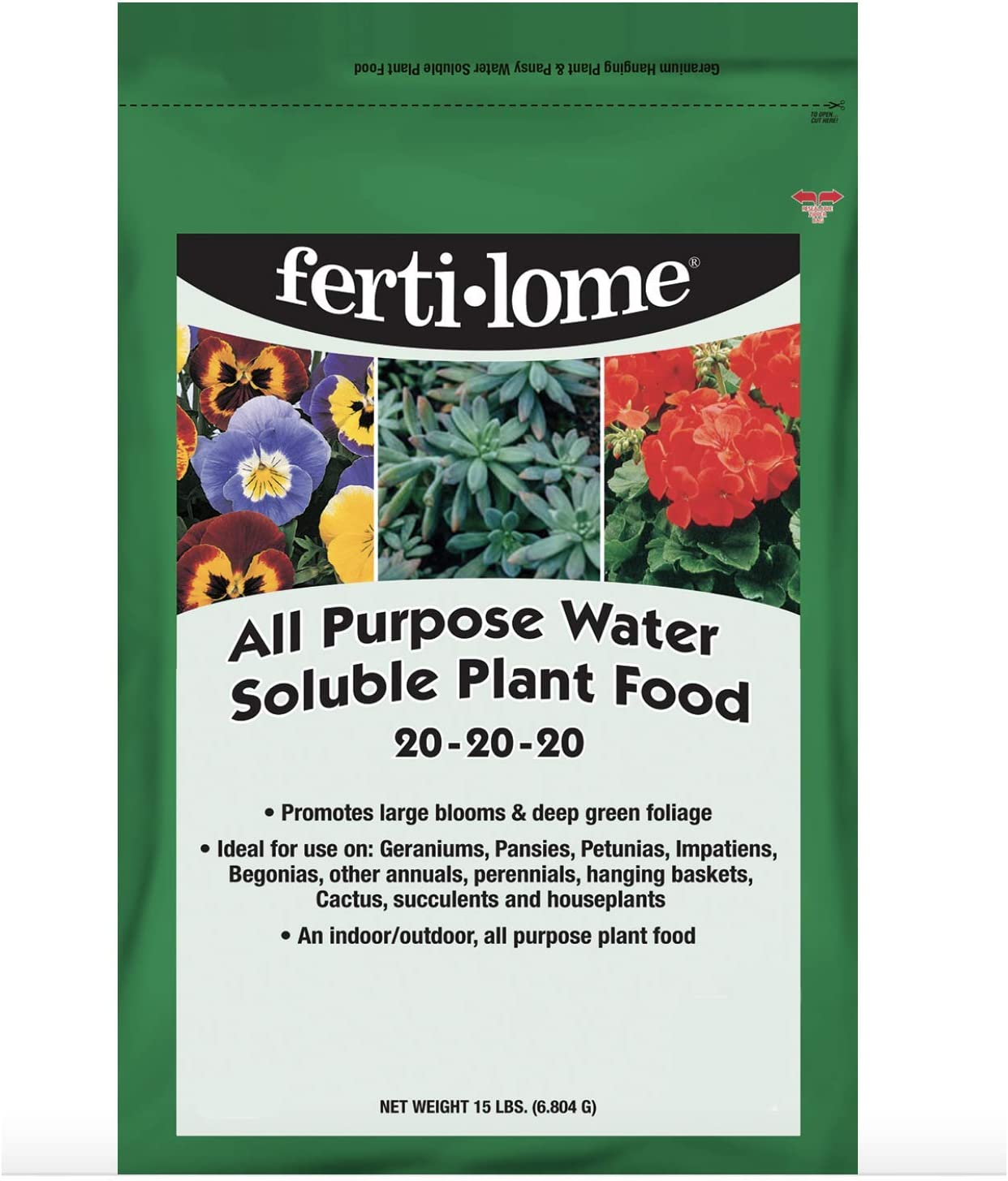 Fertilome 11728 All Purpose 20-20-20 Water Soluble Plant Food - 8 Oz.