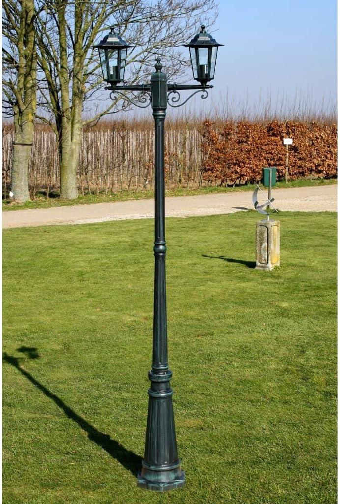 Aluguß Kandelaber Kandelaber Garten Laterne Außenleuchte Gartenleuchte 215 cm