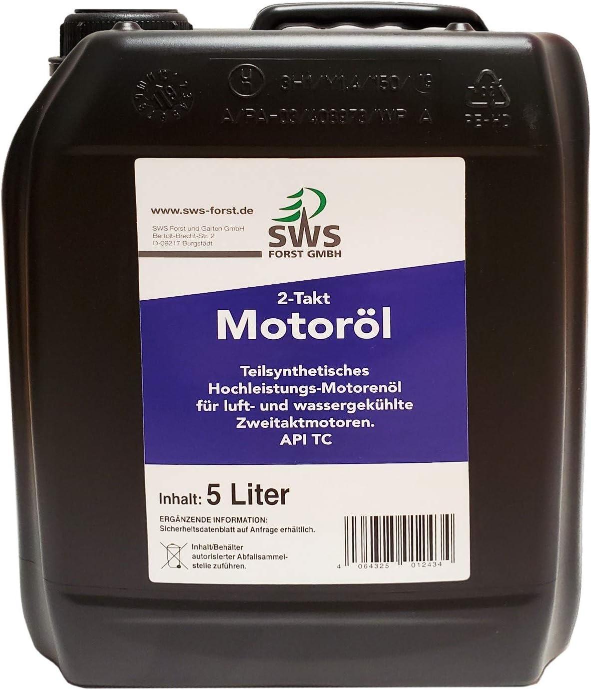 Aceite de dos tiempos de 2 tiempos de 5 litros, bidón de aceite mezclador
