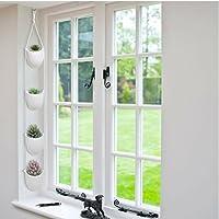 4 Piece Modern Ceramic Hanging Planters for Indoor Plants, Outdoor Planter, Succulent Plants Pots, Decorative Display Bowls
