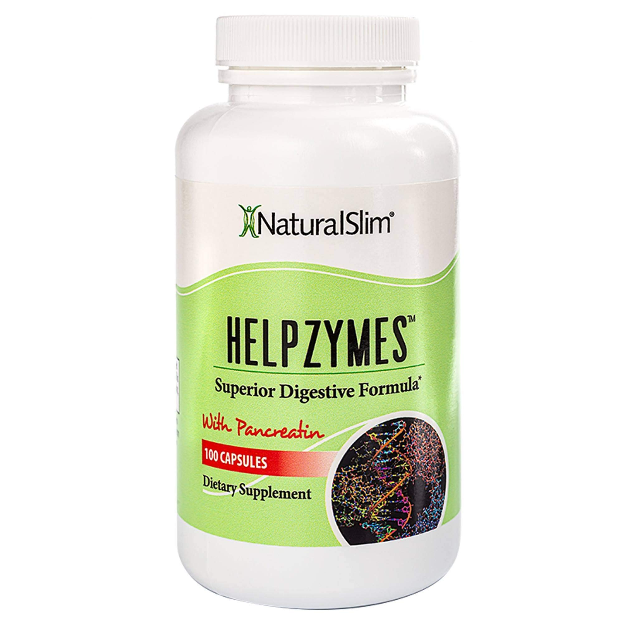 NaturalSlim Superior Digestive Enzymes with HLC Acid and Pancreatin Formulated by Award Winning Weight Loss and Metabolism Specialist- Powerful and Effective Formula for Ultra Digestion and Absorption by NaturalSlim