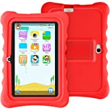"YUNTAB Q88H Kids Edition Tablet, 7"" Display, 8 GB, WiFi, Bluetooth, Dual Camera, Kids Software Pre-Installed, Premium Parent Control, Educational Game Apps, Protecting Silicone Case (White-RED)"