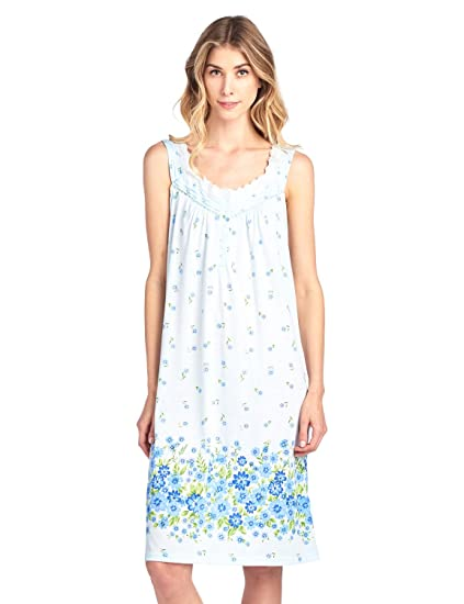 37c32602cd Casual Nights Women s Fancy Lace Floral Sleeveless Nightgown - Blue -  3X-Large