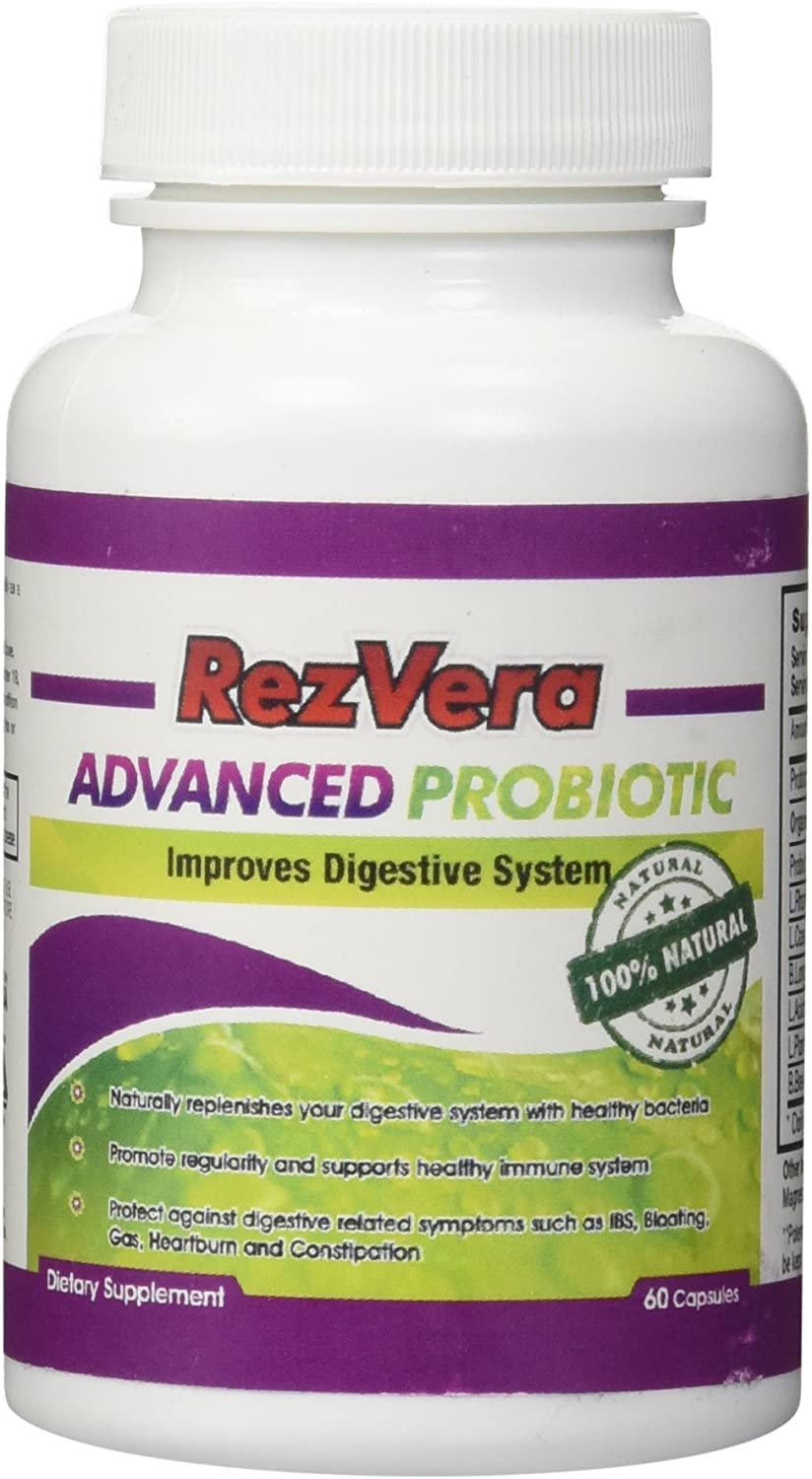 1 Best All Natural Advanced Probiotic Supplement – Stabilize Your Digestive System – 60 Day Supply with 100 Money Back Guarantee