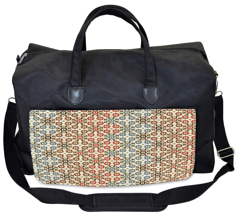 Amazon com: Ambesonne Abstract Gym Bag, Ethnic Arabic Motifs