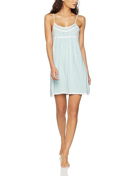 Iris & Lilly Pantalón de Pijama Soft Touch para Mujer, Azul (Sterling Blue)