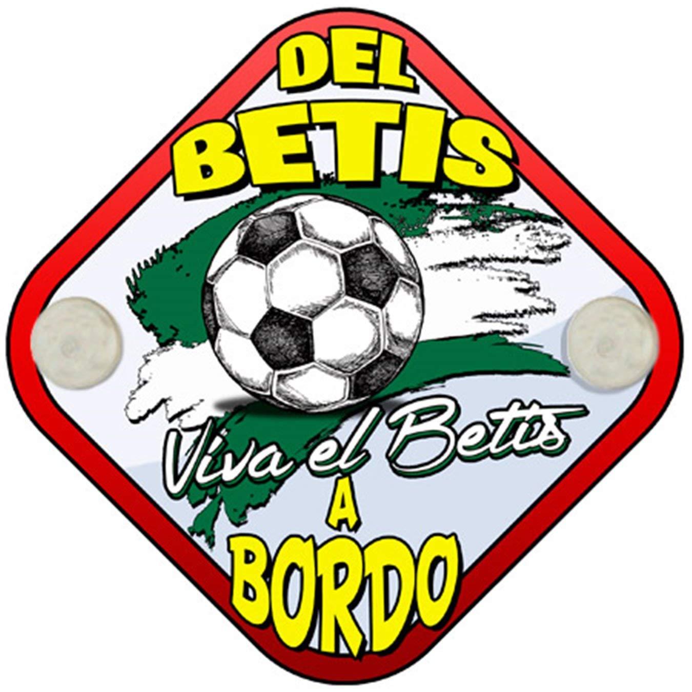 Placa beb/é a bordo hincha del Betis a bordo