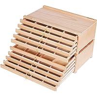 MEEDEN 10-Drawer Artist Supply Storage Box - Portable Foldable Multi-Function Beech Wood Artist Tool & Brush Storage Box…