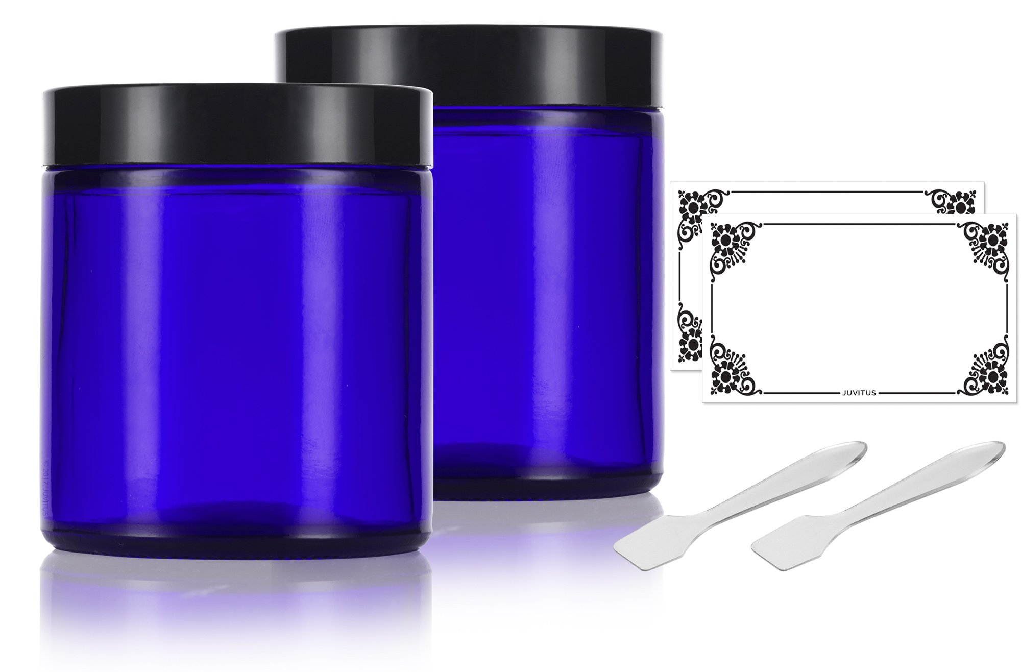 Amazon Com Cobalt Blue Glass Straight Sided Jar 2 Oz