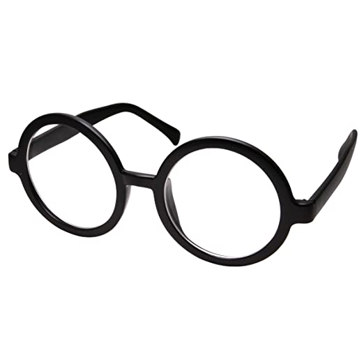 1134353ad7f3 Amazon.com  grinderPUNCH Adult Vintage Inspired Large Round Circle Clear  Lens Non Prescription Glasses  Clothing