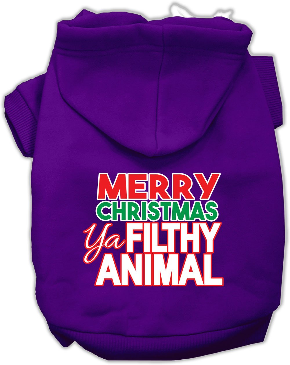 Mirage Pet Products 62-148 SMPR Ya Filthy Animal Screen Print Purple Pet Hoodie, Small