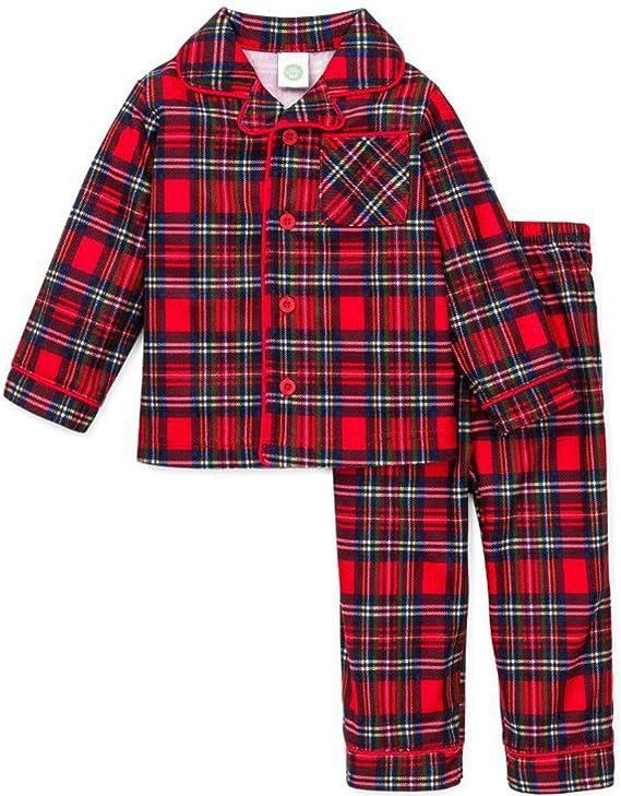 Boys Christmas Pajamas Infant or Toddler Plaid
