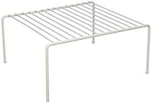 Panacea Grayline 40115, Medium Kitchen Helper Shelf, White