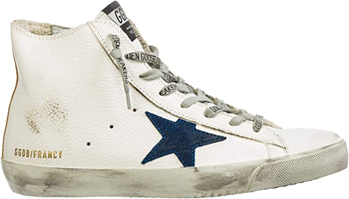 Sneakers Francy White Gold-Blue Star