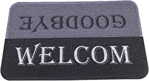 Floor Mats for Home Entrance Welcome Door Mat Anti Slip Durable Washable Doormat Anti Dust Absorber Shoe Mats for Entryway Rubber