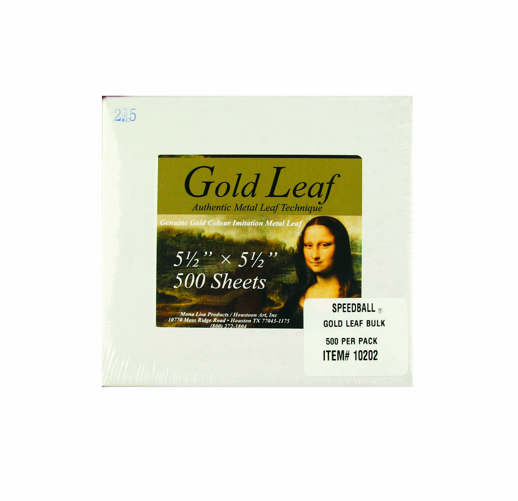 Speedball Mona Lisa Composition Gold Leaf, 500 Sheet Pack by Speedball