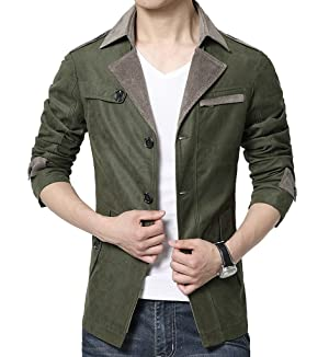 Nothar Men's Fall Casual Cotton Jackets Slim Fit