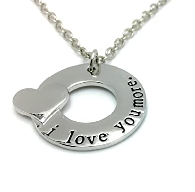 Charmtastic i love you more necklace pendant mothers day charmtastic i love you more necklace pendant mothers day daughter aloadofball Choice Image