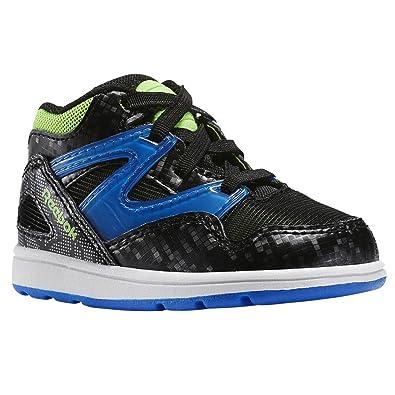 Reebok Versa Pump Omni lite, Zapatos (1-10 Meses) Unisex Bebé, Negro/Azul/Verde/Blanco (Black/Blue Sport/Solar Green/Wht), 17