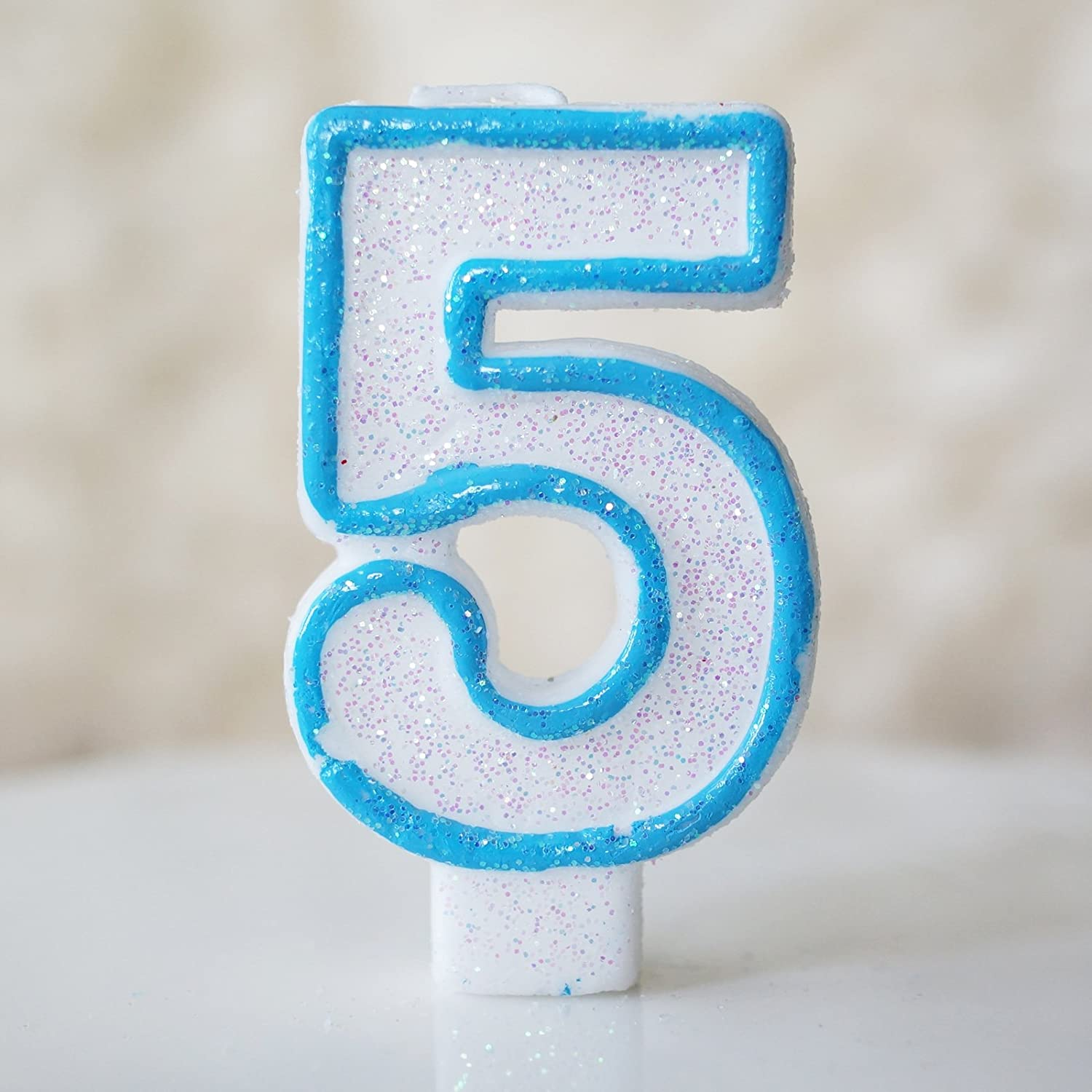 Amazoncom Number 5 Numerals Birthday Party Cake Candle Glitter