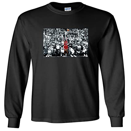 c3276872e2991b The Silo LONG SLEEVE Black Chicago Jordan  quot The Shot quot  T-Shirt ADULT