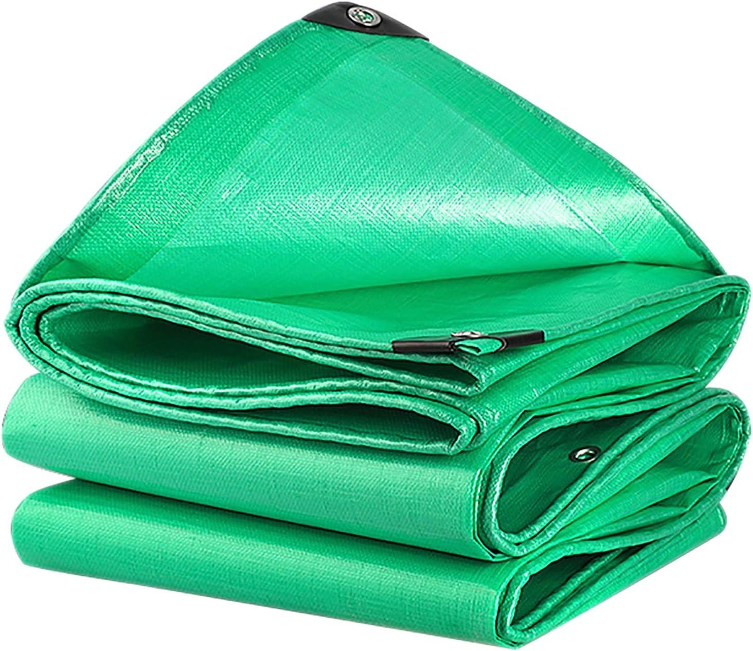 ANUO ターポリンシェードクロス PEプラスチックポリタープ証明ターポリン210g/㎡軽量防水ガーデン工場防水シートカバーアウトドアキャンプシェード布 (Color : Green, Size : 16.5x23.1ft/5x7m)