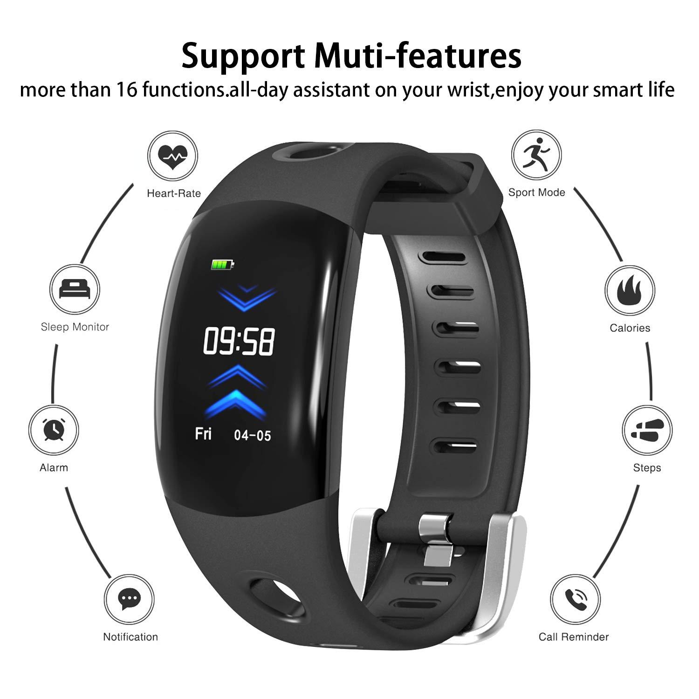 ISWIM Pulsera Actividad, Pulsera Inteligente con Pantalla Color 3D, Pulsómetro Impermeable IP68 Podómetro Deportiva Reloj para Android iPhone iOS ...