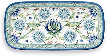 TarHong 1 Piece Sikandra Floral Serving Tray Set, Multicolored