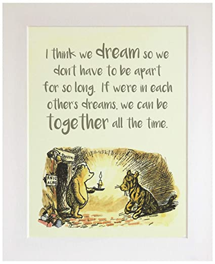 Nursery Picture Gift Pooh? UNFRAMED Well be Friends Forever Wont we Christening New Baby//Birth Baby Shower Classic Winnie The Pooh Quote Print