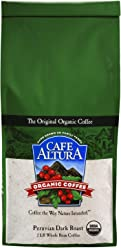 Cafe Altura Whole Bean Organic Coffee, Peruvian Dark Roast, 2 Pound