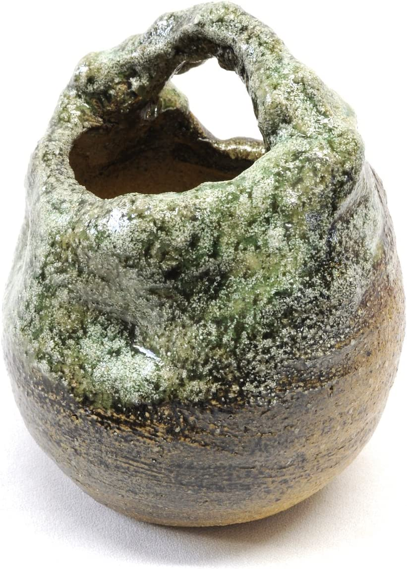 Green Earth Egg Vase with Handle