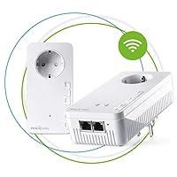 Devolo Magic 2 Wifi: Fantastisches Powerline-Starter Kit mit WLAN-Funktion, bis 2400 Mbit/s Wifi AC, 2x Gigabit LAN-Anschluss pro Adapter, integrierte Steckdose, Mesh WiFi, Access Point, weiß