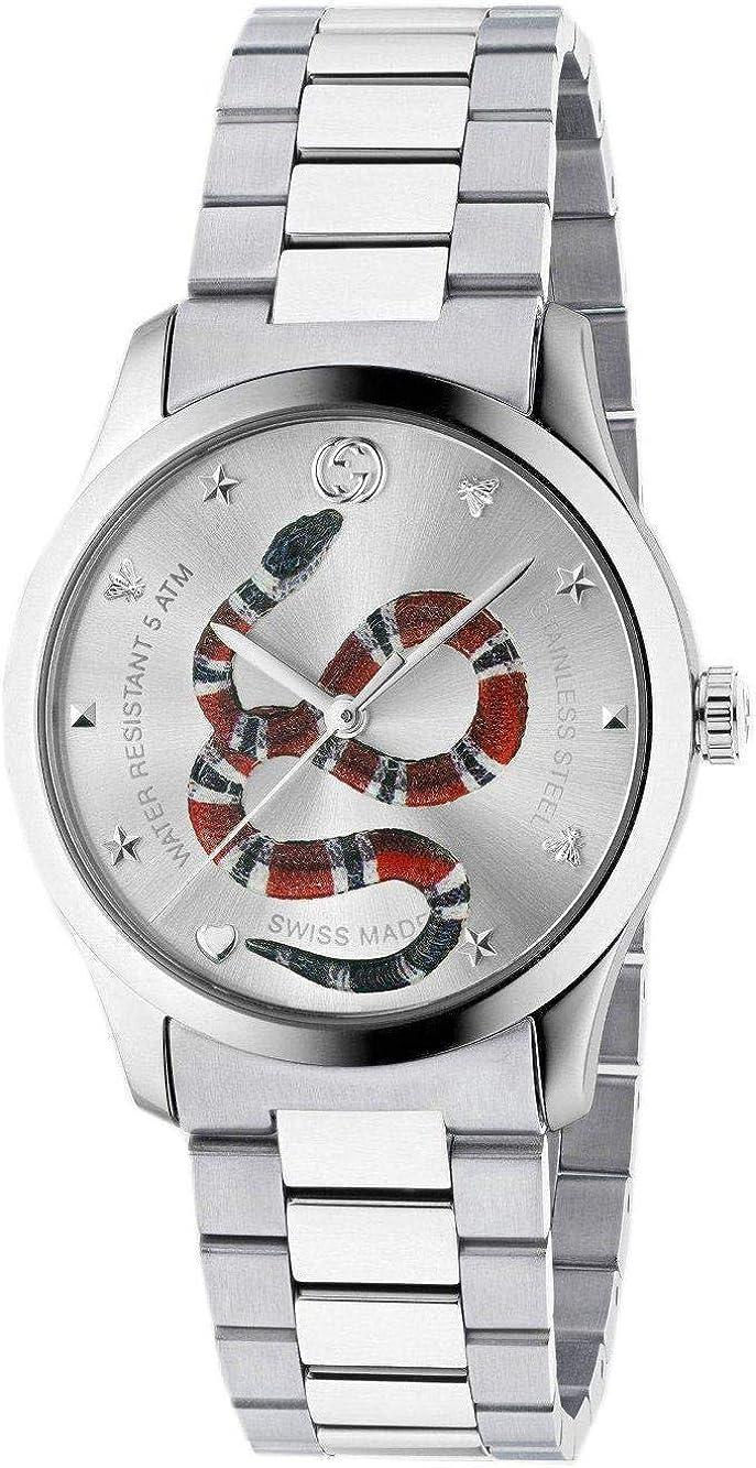 Reloj Gucci G-Timeless 38 mm de Acero Inoxidable de la Serpiente en el dial YA1264076